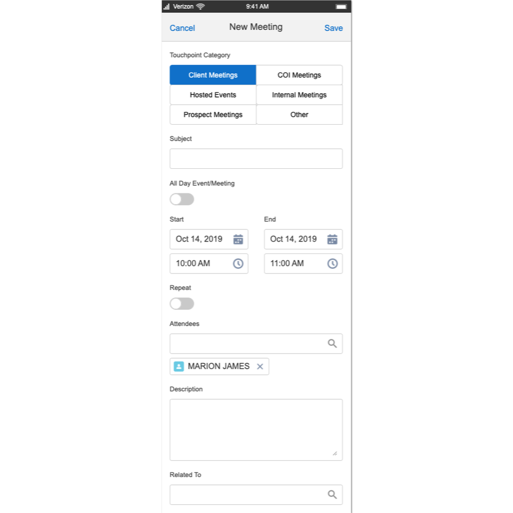 Mobile design example