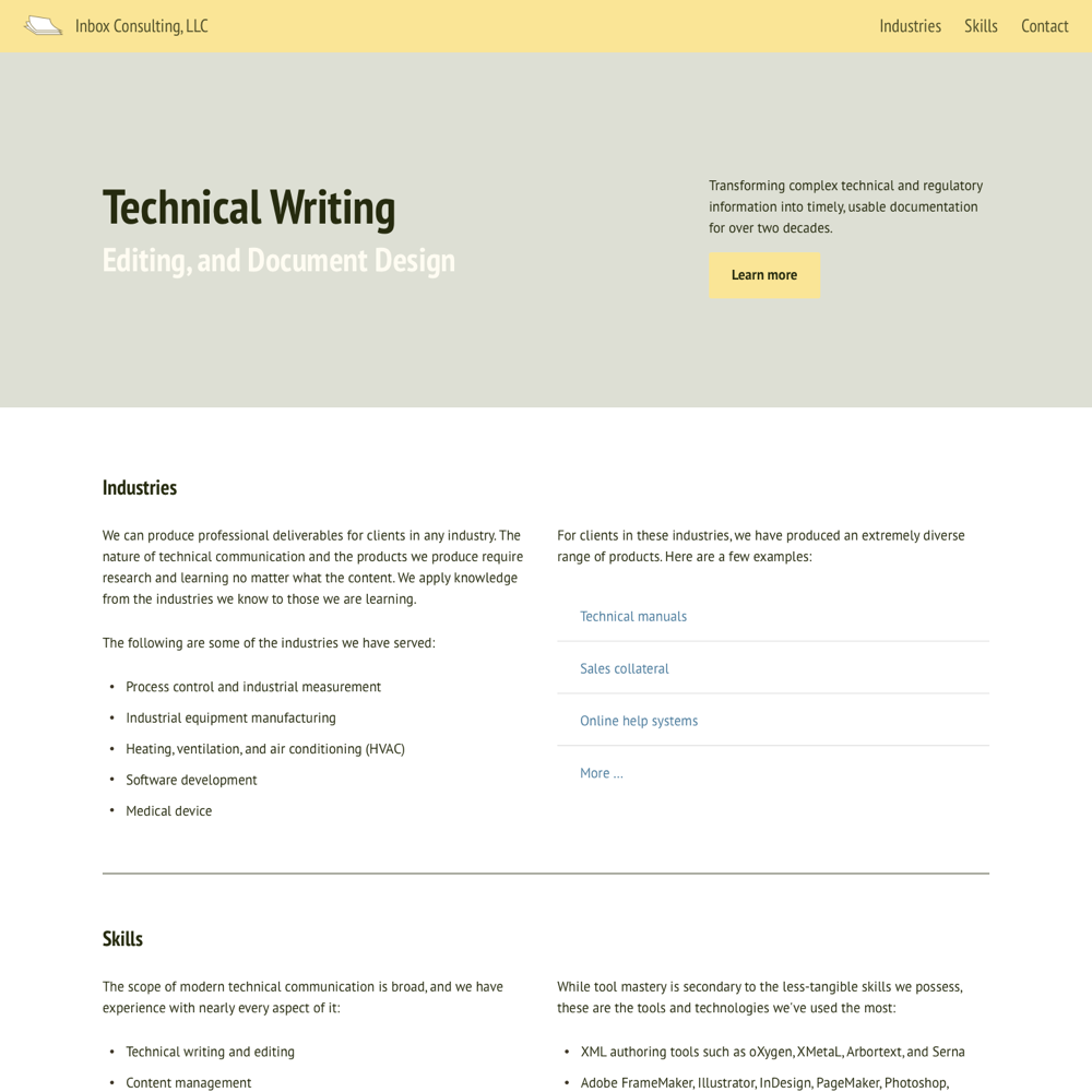 Site for Inbox Consulting