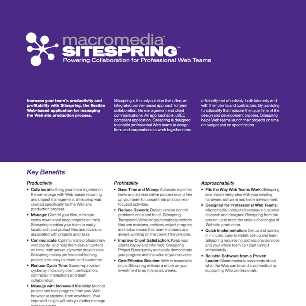 Macromedia Sitespring